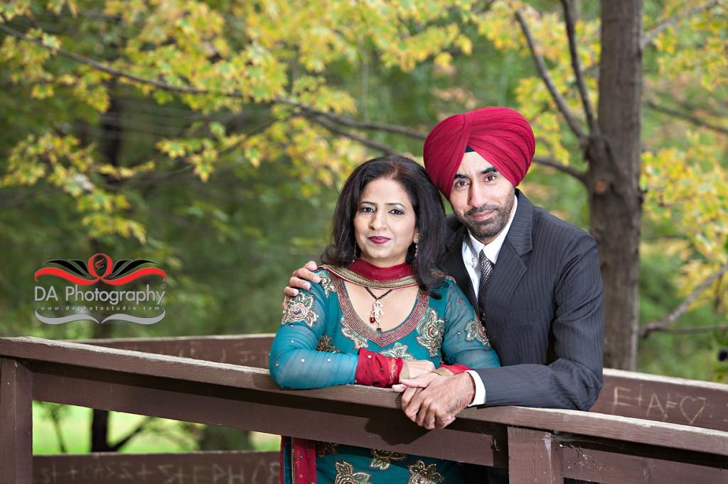 Indian Couple Portrait, Fall Scene