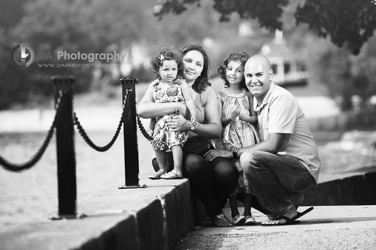Family of Four by the Lake - Family Photography by DA photography