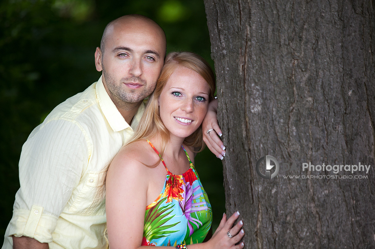 By the tree - Engagement photographer