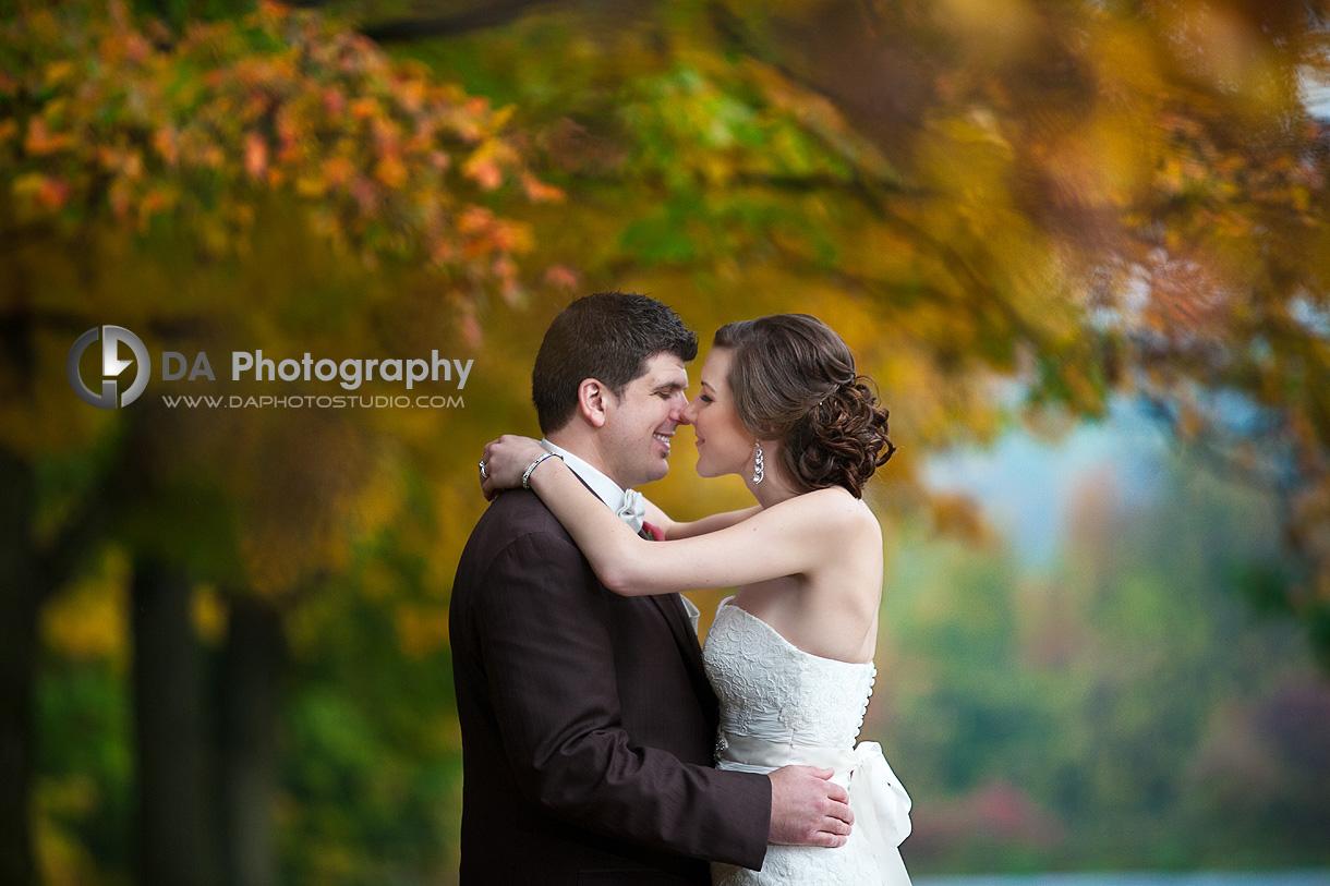 Gorgeous Couple at their Fall Wedding - DA Photography - Wedding Photographer