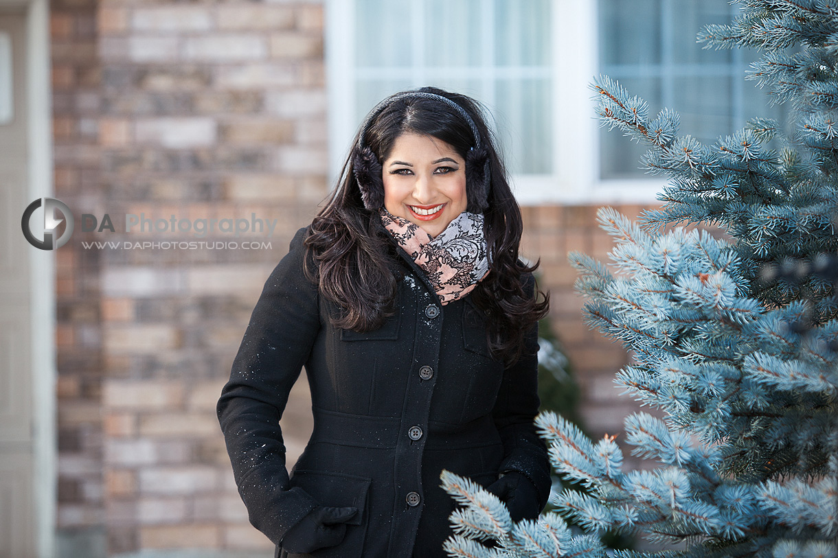 Professional Business Woman - Real Estate Agent Winter Theme - Corporate Photographer