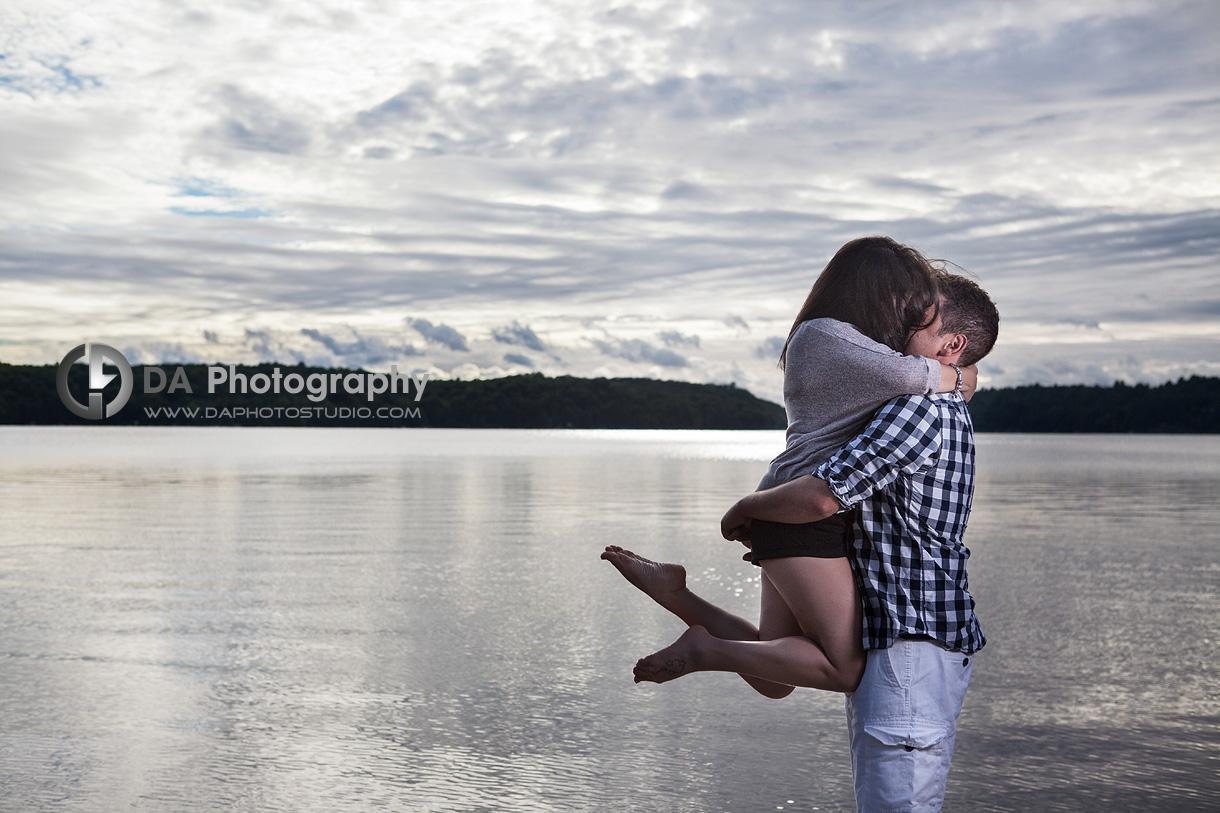 Fun Couple's Pose by Water - Wedding Photography by Dragi Andovski - www.daphotostudio.com
