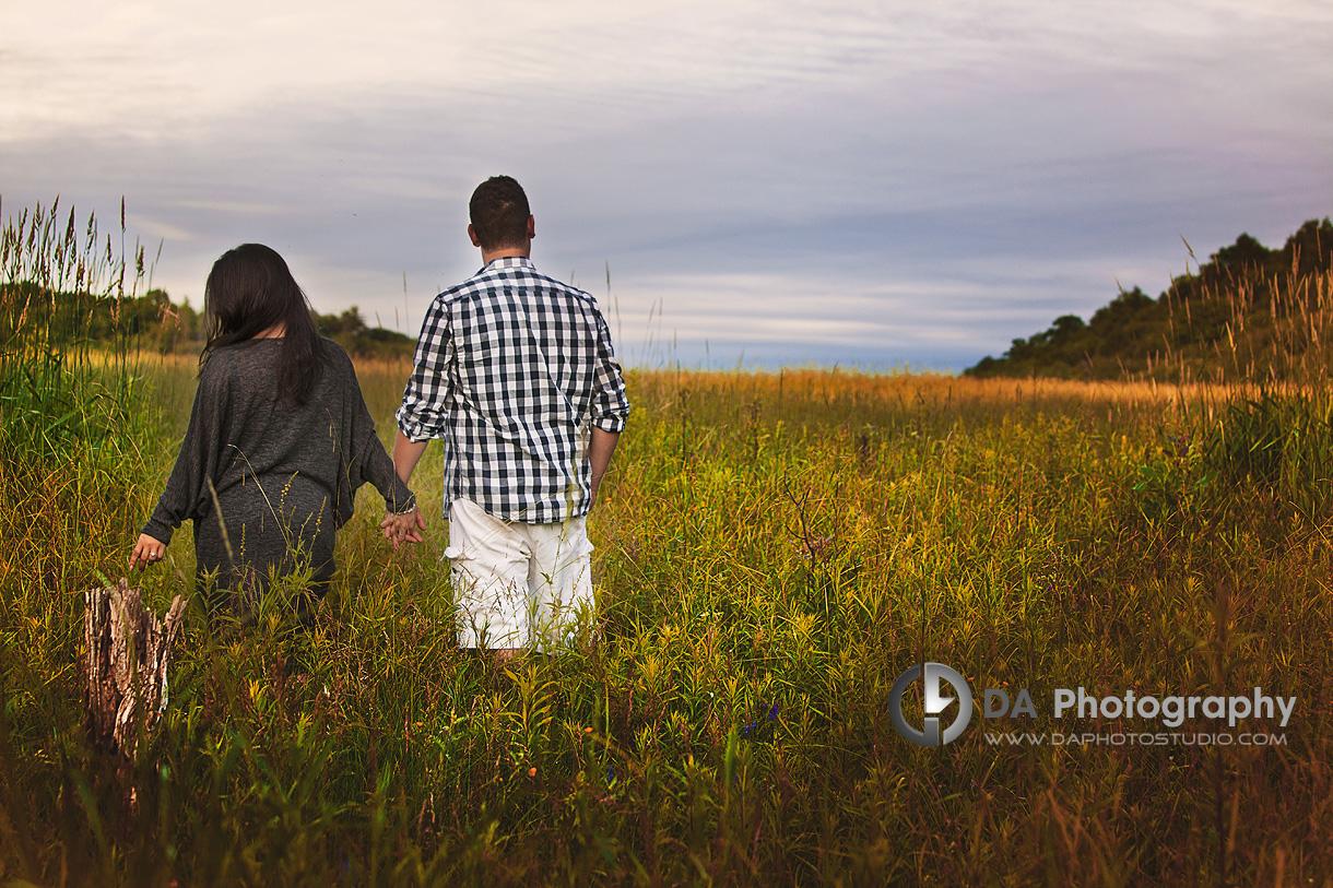 Engagement Couple in Long Grass - Wedding Photography by Dragi Andovski - www.daphotostudio.com