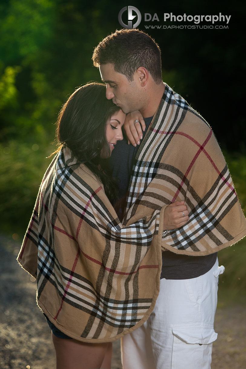 Engagement Couple with Blanket Prop - Wedding Photography by Dragi Andovski - www.daphotostudio.com