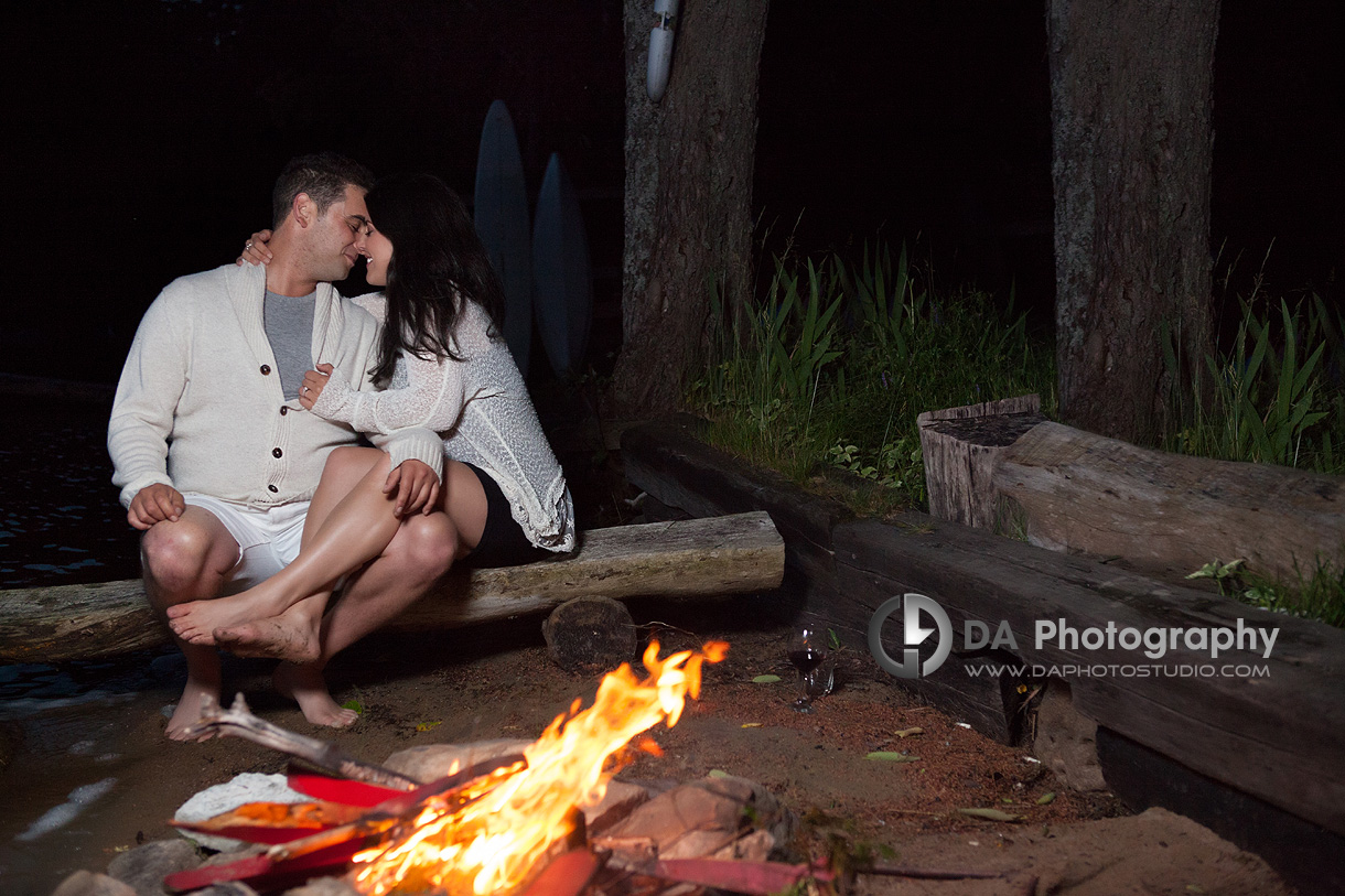 Fireside Engagement Session - Wedding Photography by Dragi Andovski - www.daphotostudio.com
