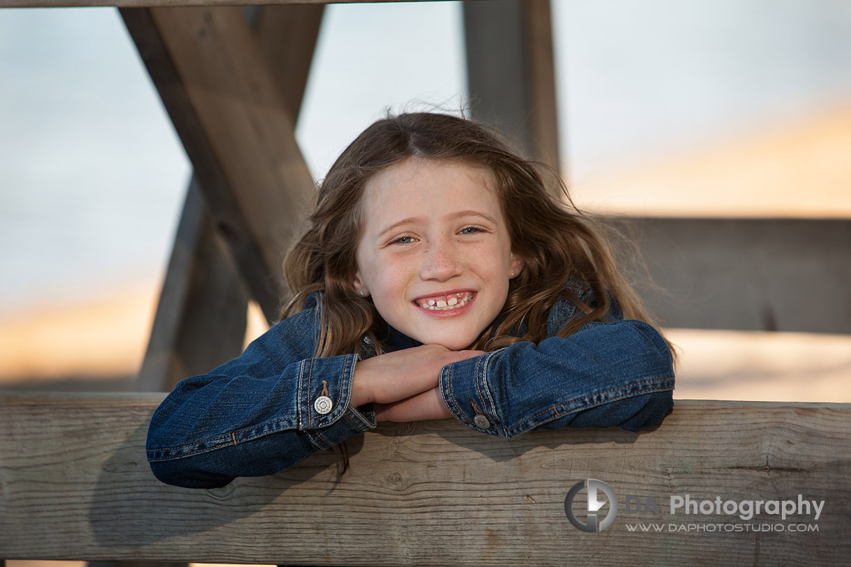 School Age Girl Portrait During Outdoor Photo Session - Family Photography by Dragi Andovski - Barrie, ON
