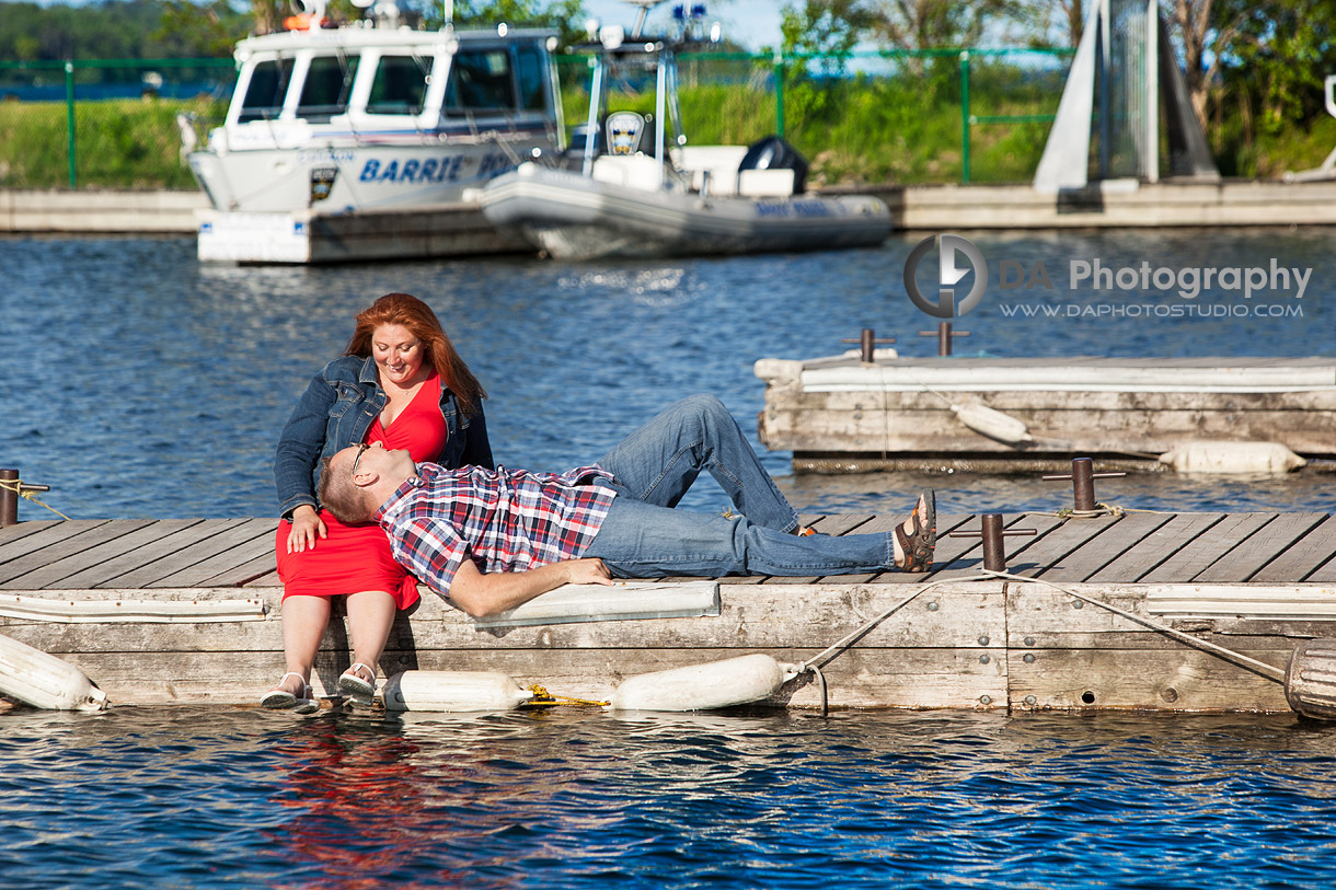 Newly Engaged Couple at the Marina in Barrie - Family Photography by Dragi Andovski - Barrie, ON