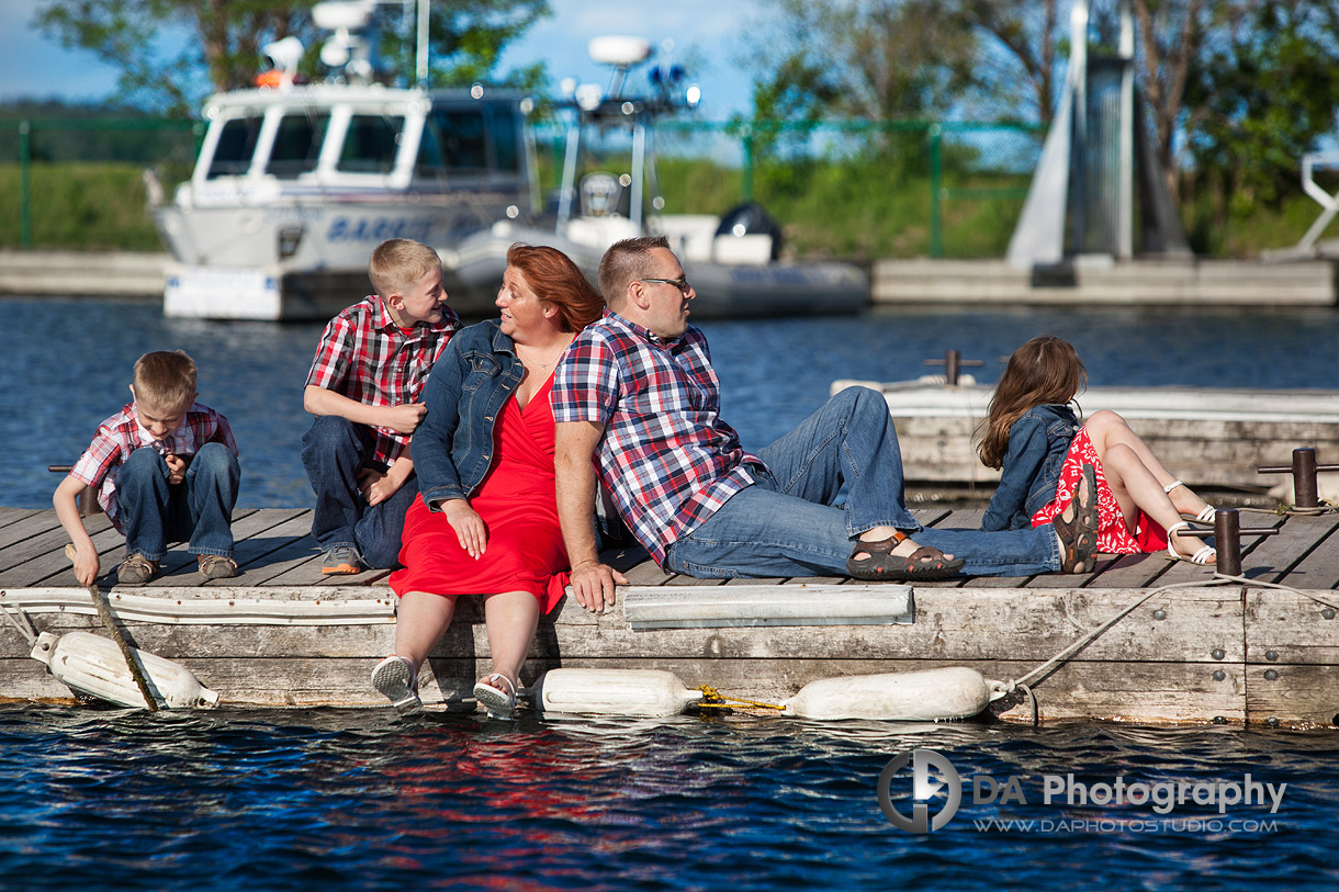 Family On The Dock - Family Photography by Dragi Andovski - Barrie, ON