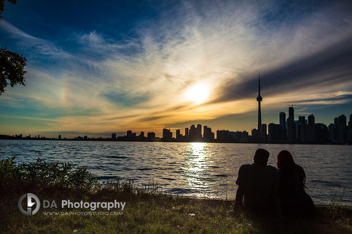 Young Couple at Sunset - Toronto Island