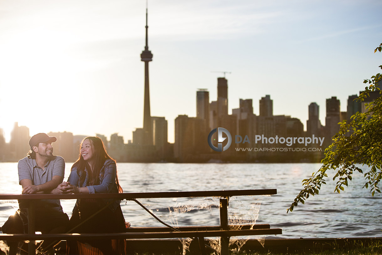 Sunset and happy People - Toronto Island by DA Photography