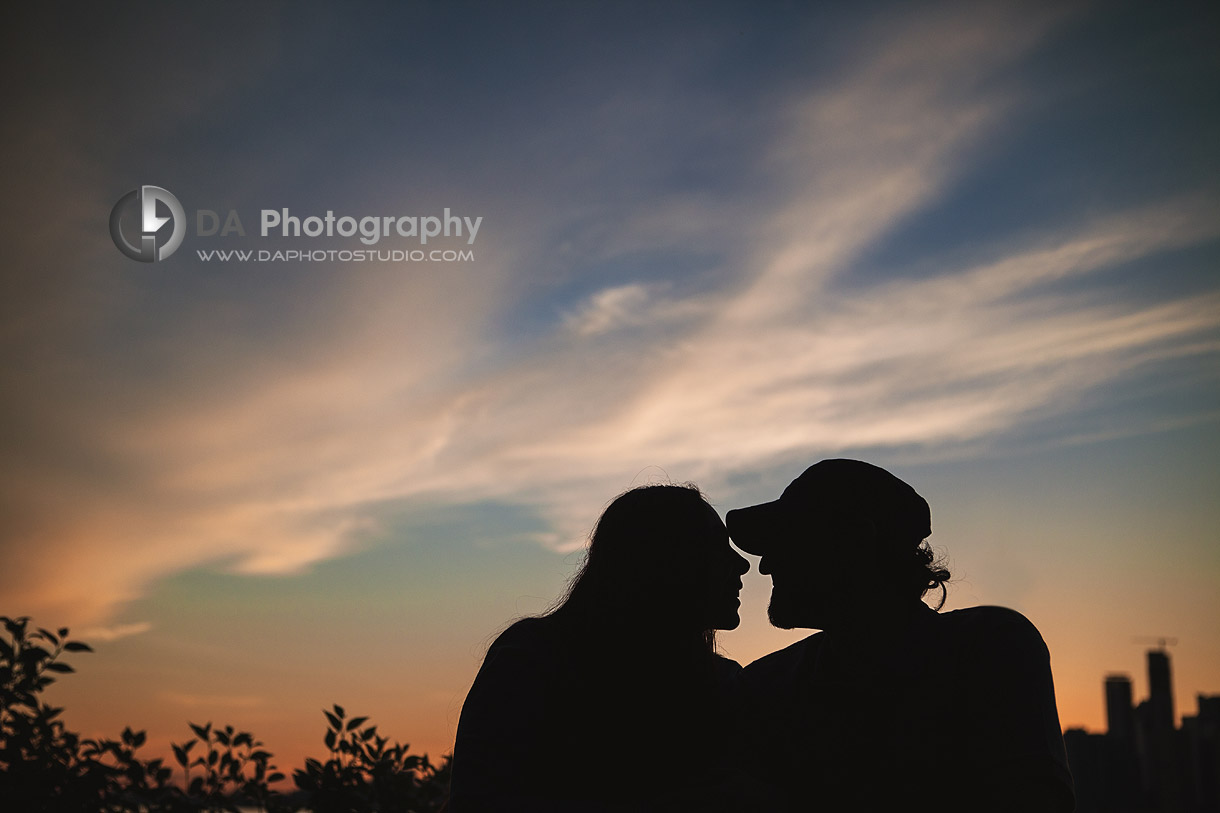 Love birds at Sunset Silhouettes  - Toronto Island -  by DA Photography