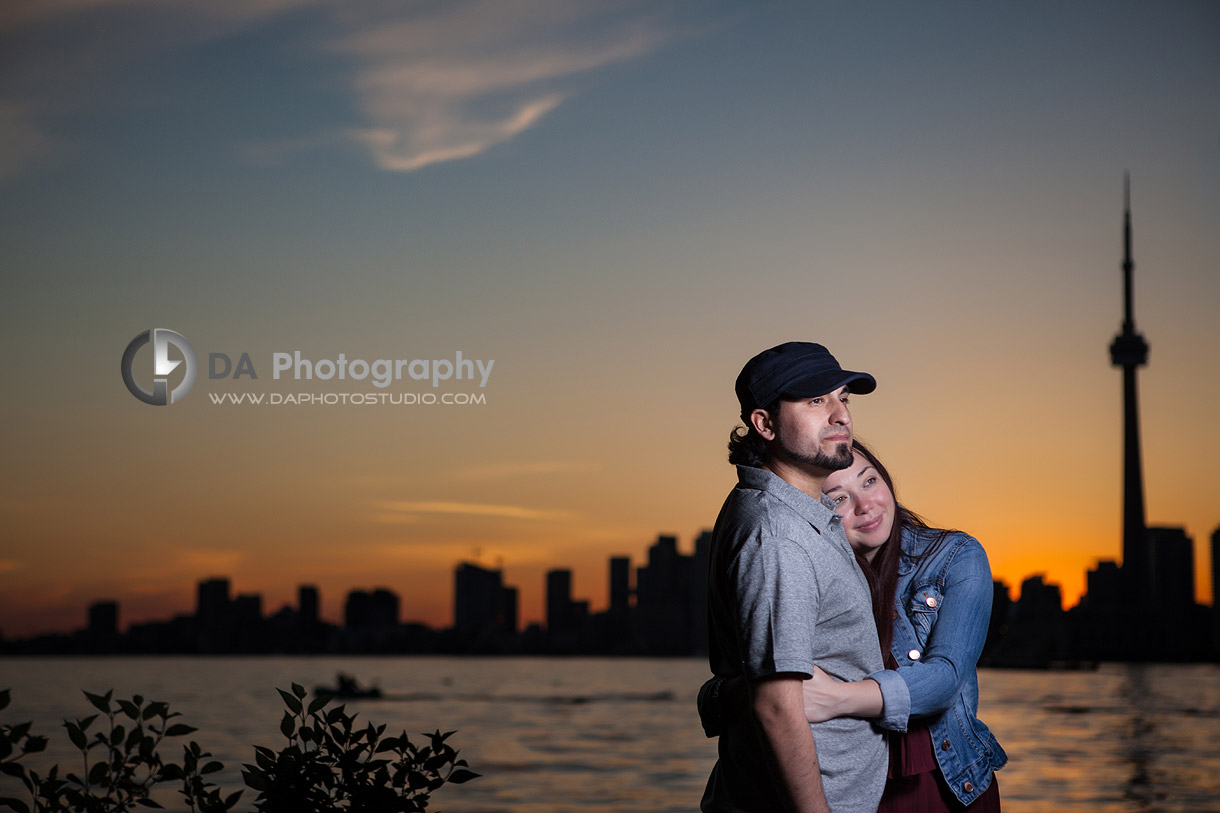 Happy people at Sunset   - Toronto Island -  by DA Photography