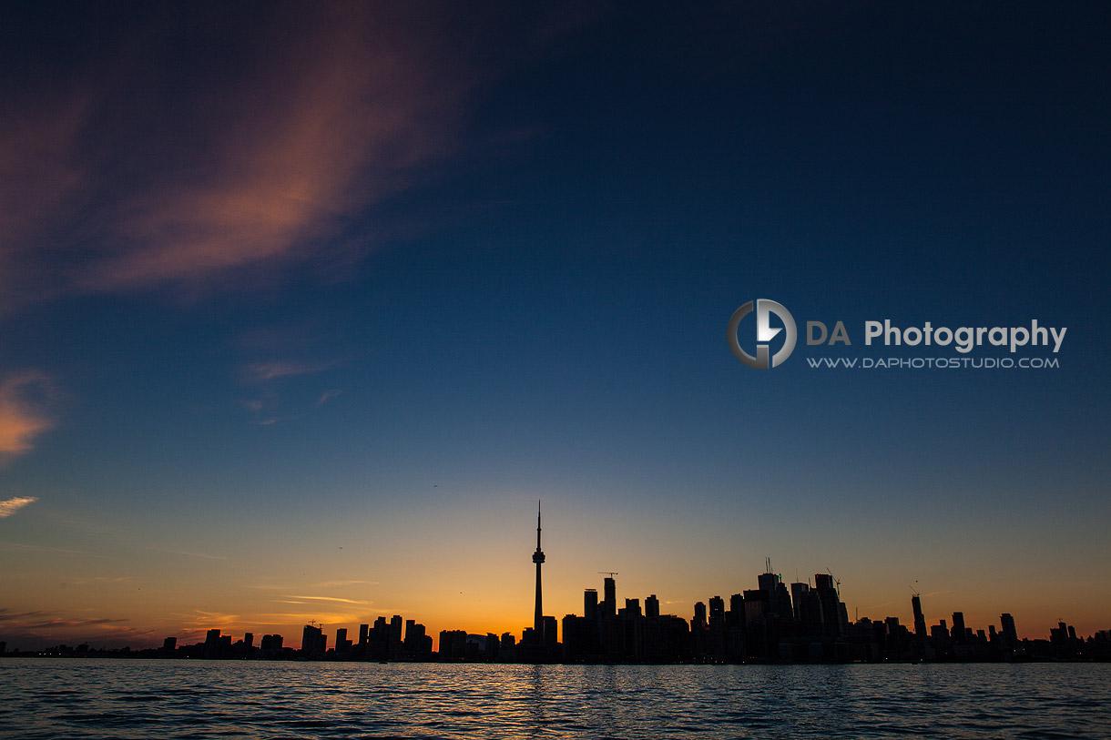 Toronto Skyline at Sunset   - Toronto Island -  by DA Photography