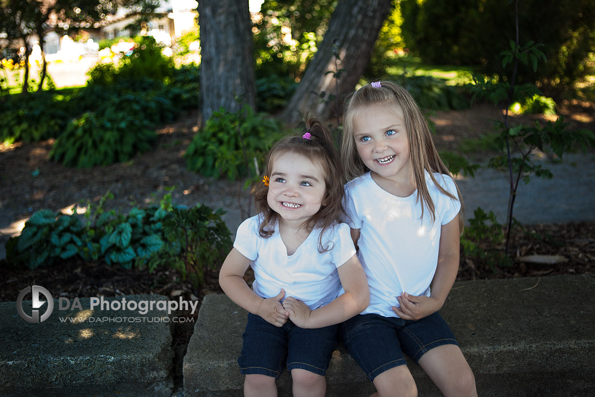 Siblings smile - at Gairloch Gardens, Oakville by DA Photography , www.daphotostudio.com