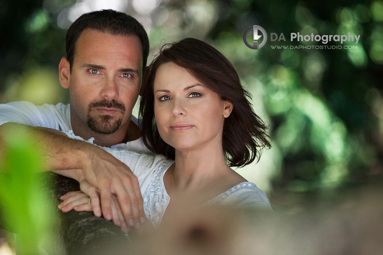 Couple portrait - at Gairloch Gardens, Oakville by DA Photography , www.daphotostudio.com