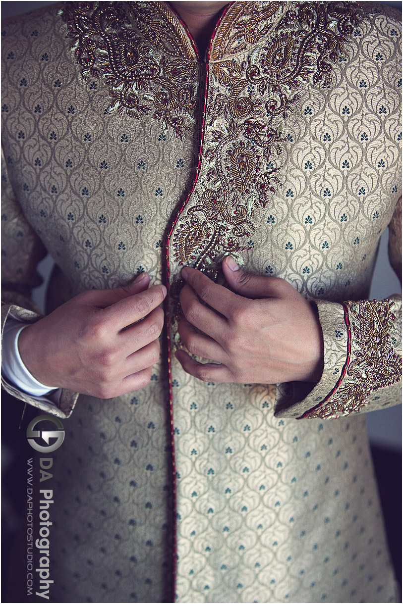 Groom's outfit at Indian Wedding at Grand Empire in Brampton