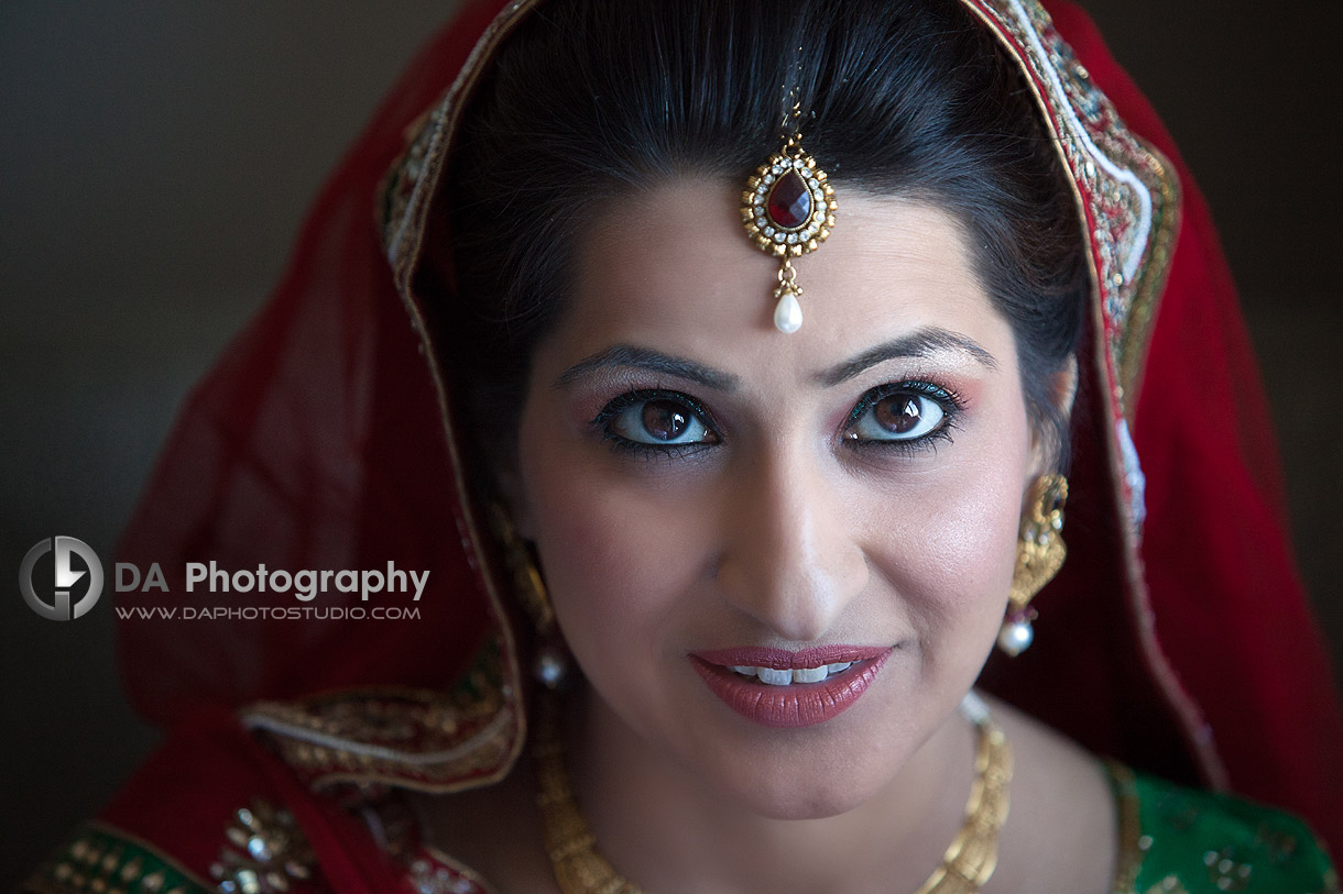 Bride on her wedding day at Grand Empire in Brampton