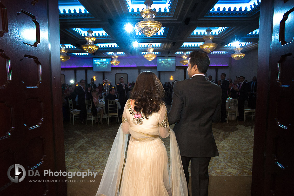 Wedding Couple Entrance at their Indian Wedding at Grand Empire in Brampton