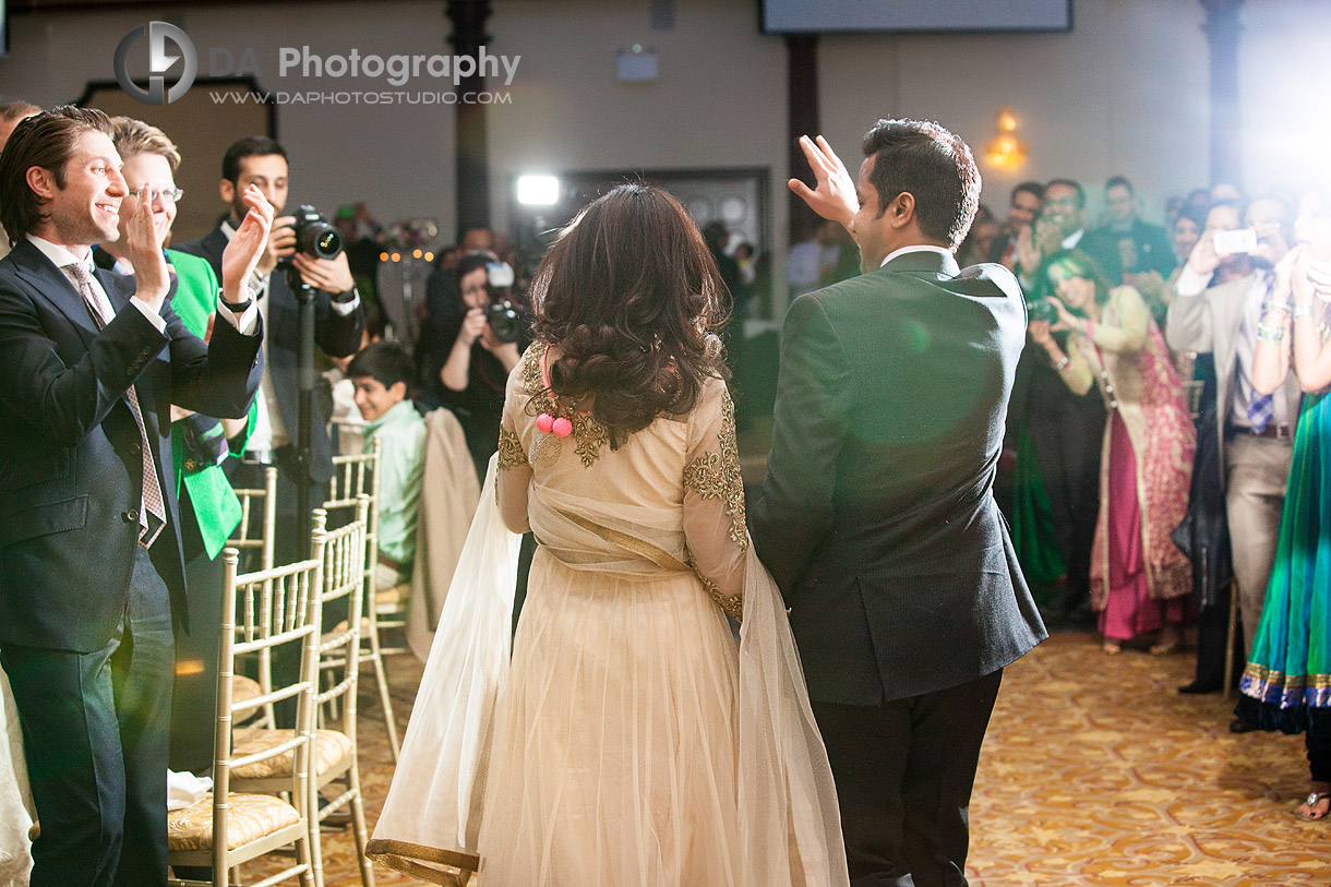 Bride and Groom Entrance at their Indian Wedding at Grand Empire in Brampton