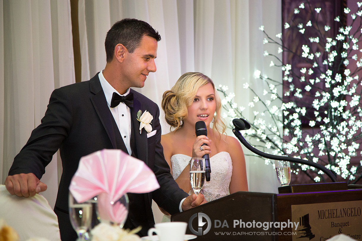 Wedding photos at Michelangelo's in Hamilton