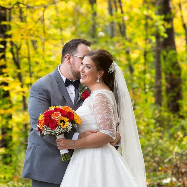 The golden colours of fall  My happiest bride ever!hellip