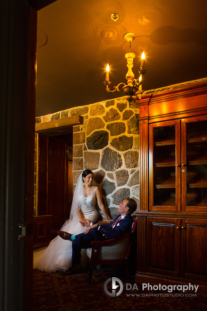 Bride and Groom at Edgewater Manor