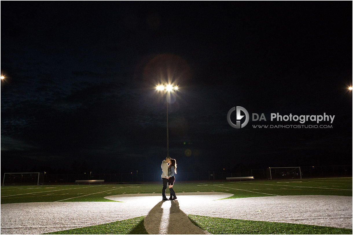 Football field High school engagement