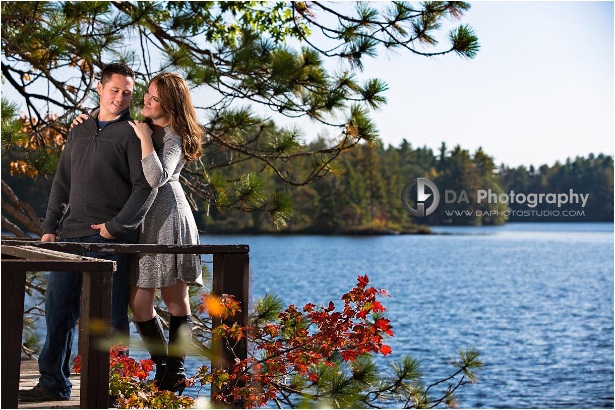 Muskoka Fall Engagement Photos