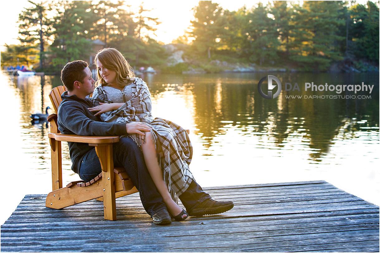 Fall Engagement Photos in Gravenhurst