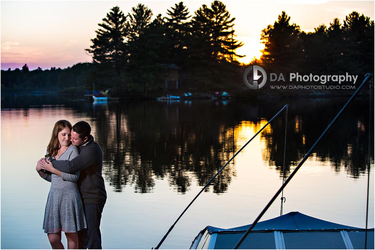 Fall Sunset Photos by the lake in Muskoka