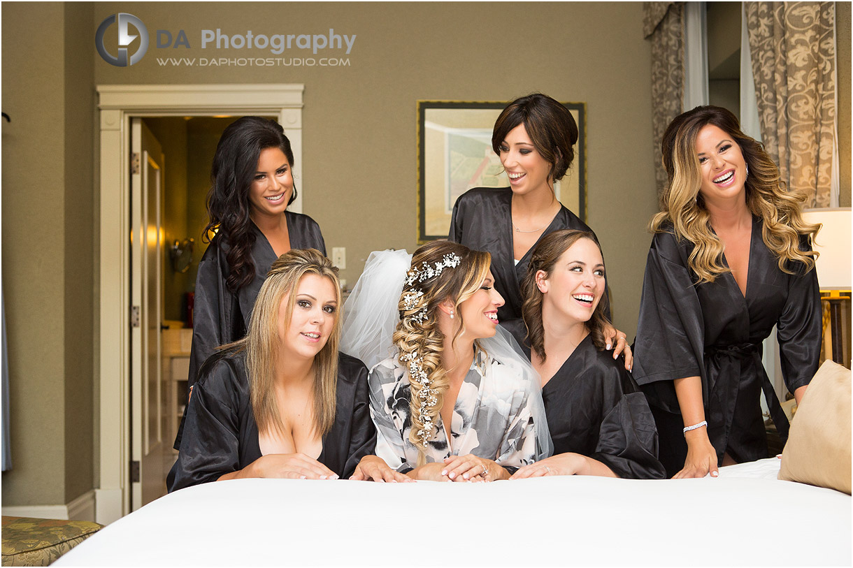 Bridesmaids in Old Mill Toronto