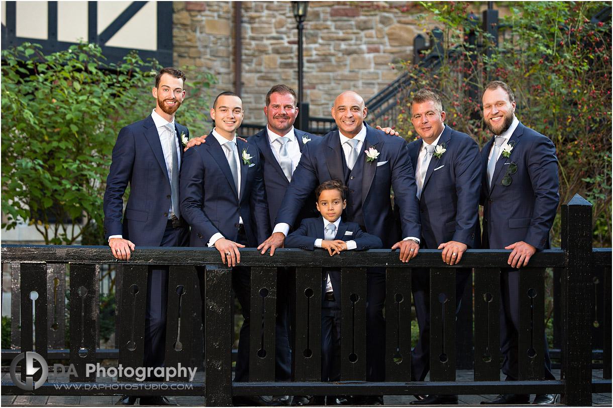 Groomsman Fall Wedding Photos