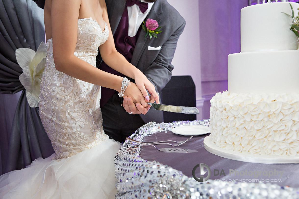 Bride and Groom at La Dome Banquet Halls