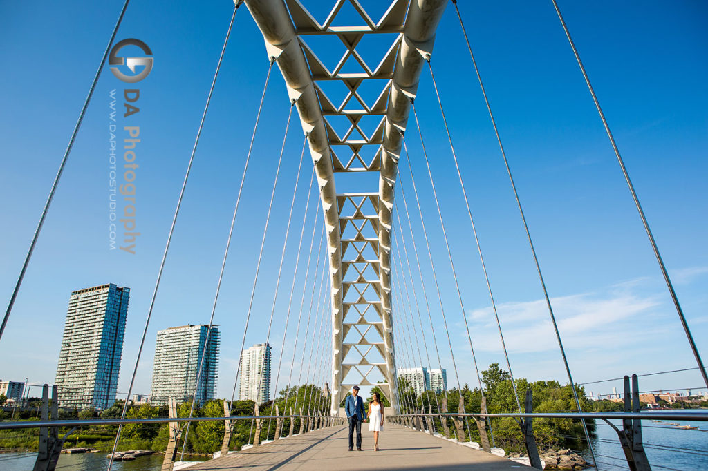 Arch Bridge Humber Bay Park Engagements in Toronto